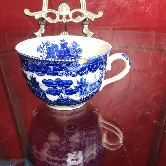 BLUE WILLOW FOOTED CUP